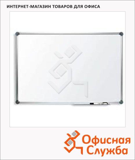 Доска магнитная маркерная Bi-Office, белая, лаковая, алюминиевая рама