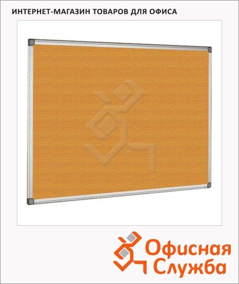 Доска пробковая Bi-Office СА151170, коричневая, алюминиевая рама