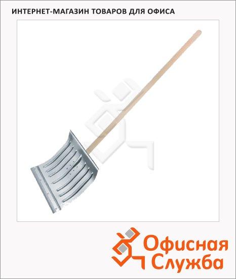 Лопата для снега 43х37см, алюминиевая