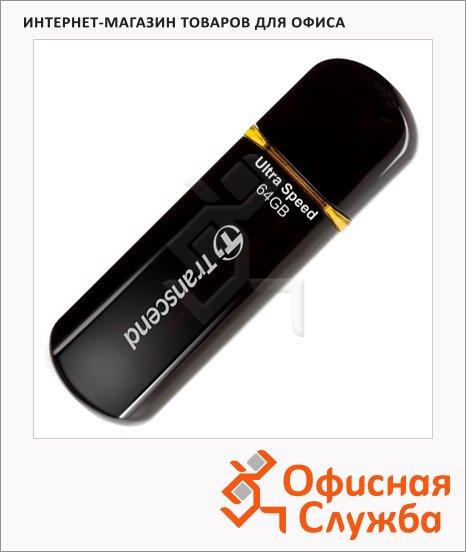 Флеш-накопитель Transcend JetFlash 600 64Gb, 32/10 мб/с, черно-желтый