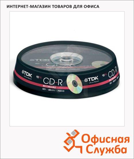 Диск CD-R Tdk 700Mb, 52x, Cake Box