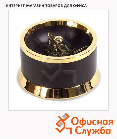 Скрепочница магнитная Lerche Black&Gold