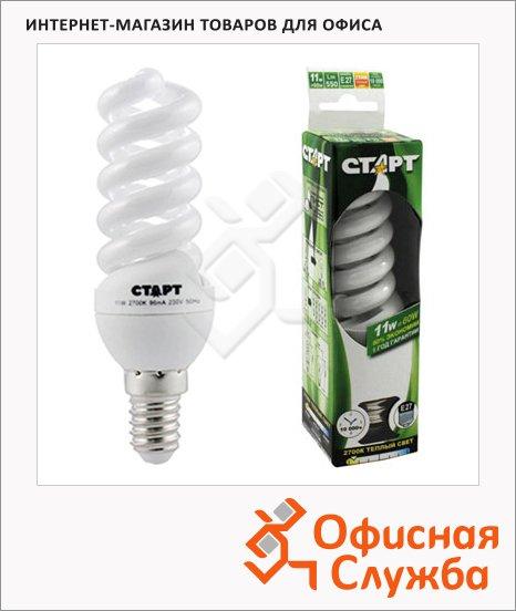 Лампа энергосберегающая Старт 11(60)Вт, E27, теплый белый