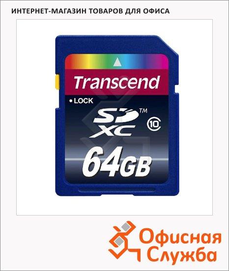 Карта памяти Transcend SDXC, 10мб/с