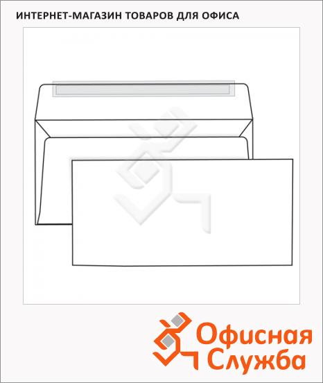 фото: Конверт почтовый Родион Принт Е65 белый 110х220мм, 80г/м2, 1000шт, стрип