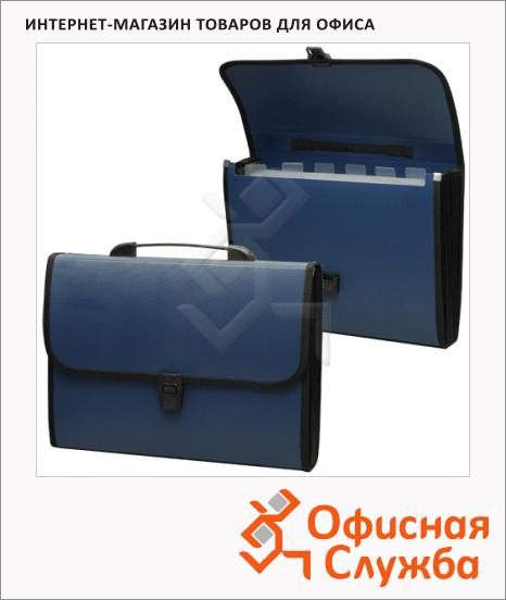 Портфель пластиковый Staff, 370х256х32мм, 6 отделений