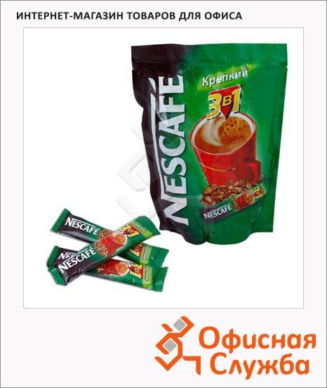 Кофе порционный Nescafe Крепкий 3в1, растворимый, пакет