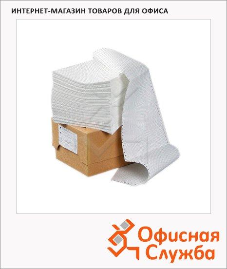 Перфорированная бумага Mega Office Стандарт 240х305мм, белизна 90%CIE, с неотрывной перфорацией