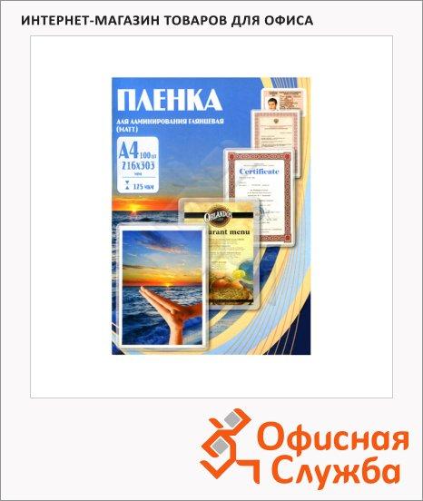 Пленка для ламинирования Office Kit, 100шт, 216х303 мм, матовая