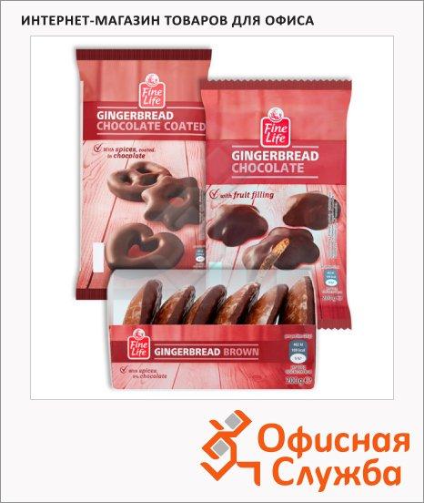Пряники Fine Life Gingerbread имбирные с шоколадной начинкой, 200г