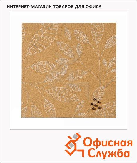 фото: Доска пробковая Bi-Office SF751250397 40х40см коричневая с рисунком, без рамы