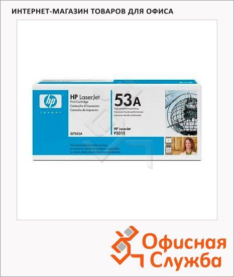 Картридж лазерный Hp 53A Q7553A, черный