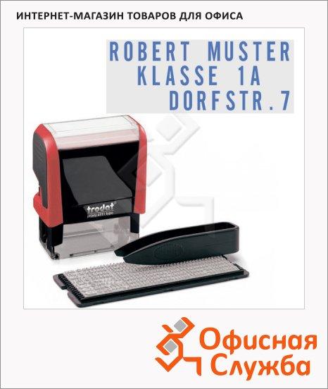 Штамп прямоугольный самонаборный Trodat Printy Typomatic 3 строки, 38х14мм, 4911/DB