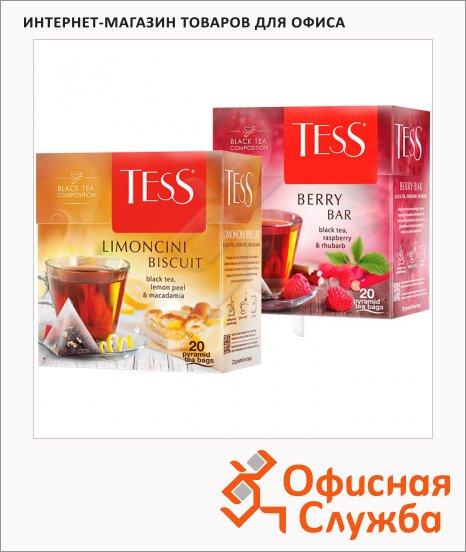 Чай Tess, черный, в пирамидках, 20 пакетиков