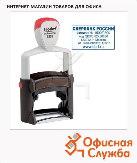 Оснастка для прямоугольной печати Trodat Professional 49х28мм, черная, 5203