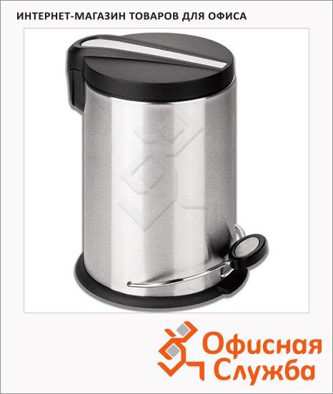 Контейнер для мусора с педалью Лайма Modern, металлик, с внутренним ведром