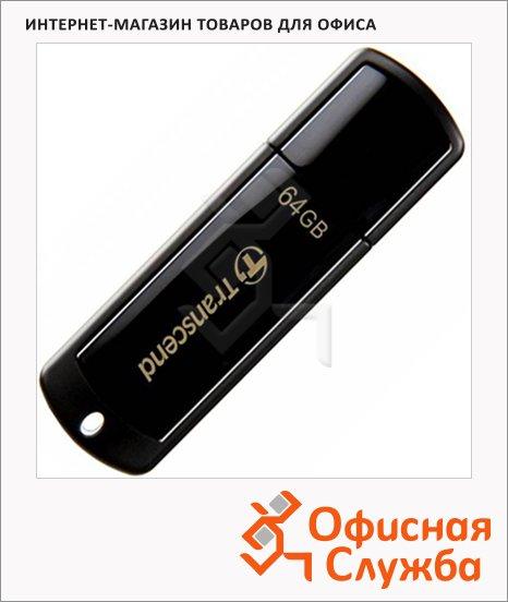 Флеш-накопитель Transcend JetFlash 350 64Gb, 16/6 мб/с, черный