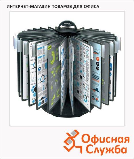 фото: Демосистема настольная Proмega Оffice 30 панелей А4, черная, FDS009