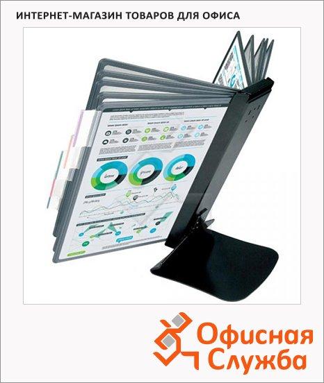 фото: Демосистема настольная Proмega Оffice 10 панелей А4, черная, FDS016