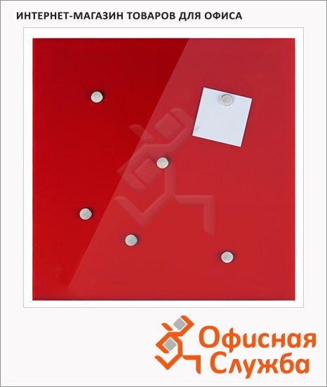 фото: Доска магнитная маркерная стеклянная Hama Belmuro 48х48 см красная, H-100728