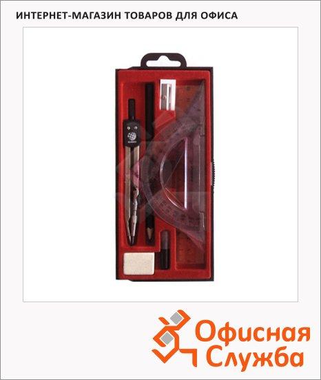 Готовальня Глобус 9 предметов, пластиковый футляр, НЧ-9-30-60