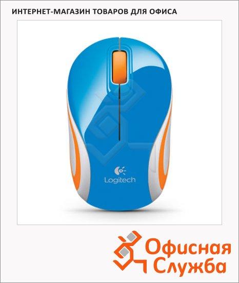 Мышь беспроводная оптическая USB Logitech Wireless Mini Mouse M187, 1000dpi