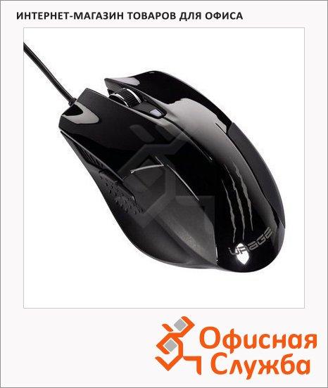 Мышь игровая оптическая Hama uRage evo, 800-3200dpi, USB, черный