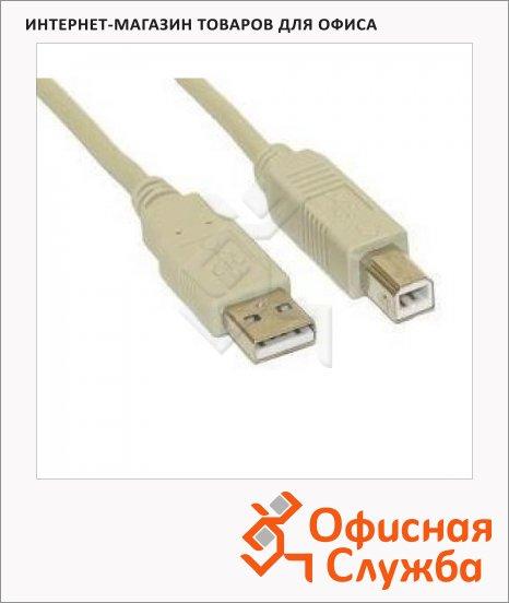 Кабель соединительный USB 2.0 Buro A-B (m-m), серый