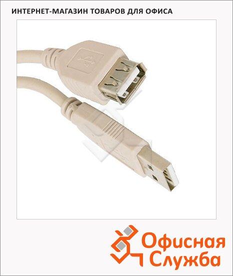 Кабель удлинительный USB 2.0 Buro A-A (m-f)