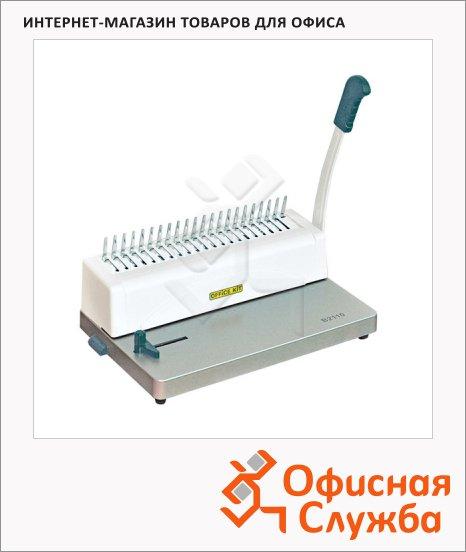 Брошюровщик гребеночный Office Kit B2110, на 10 листов, переплет до 250 листов, пластиковая пружина