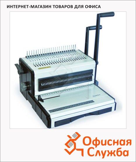 Брошюровщик гребеночный Office Kit Combo, на 25 листов, переплет до 120 листов, металлическая пружина