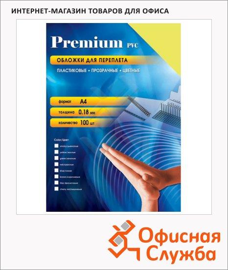 Обложки для переплета пластиковые Office Kit PYA400180, А4, 180 мкм, 100шт