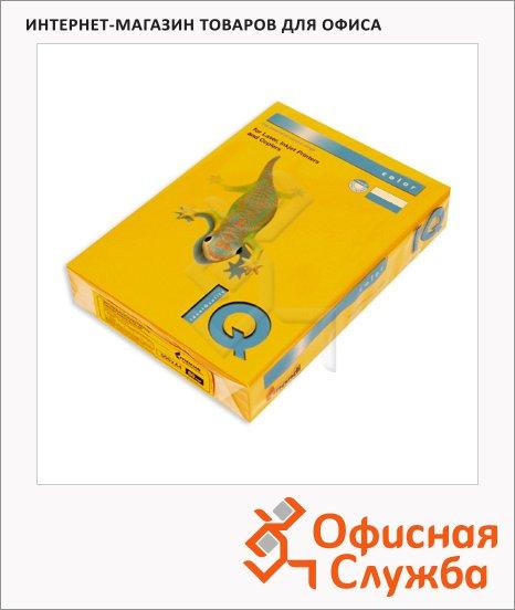 Цветная бумага для принтера Iq Color старое золото, А4, 80г/м2, AG10