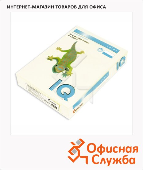 Цветная бумага для принтера Iq Color ванильно-бежевая, А4, BE66