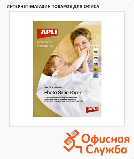 Фотобумага для струйных принтеров Apli А4, 20 листов, 200г/м2, матовая, 4453