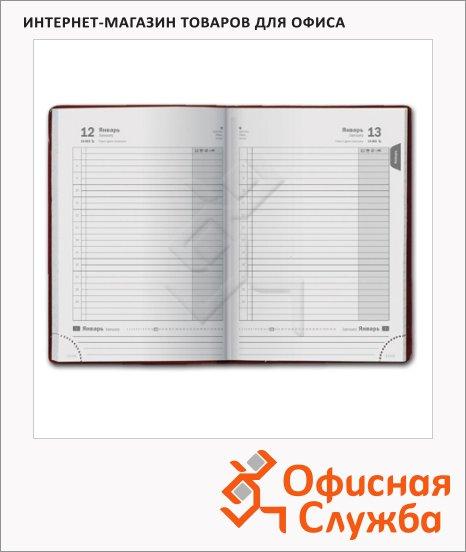 фото: Ежедневник полудатированный Brunnen Компаньон цвет алюминий А5, 176 листов