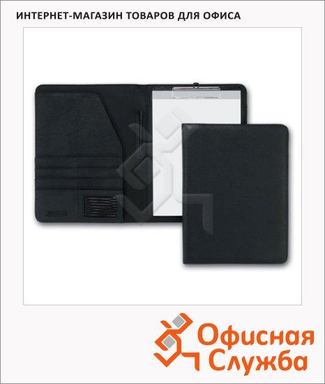 Деловая папка Brunnen Classic черная, искусственная кожа