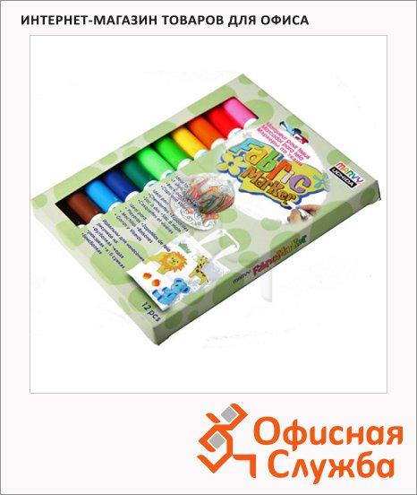фото: Маркер по ткани 560 набор 12 цветов 2-5мм, для светлых тканей, на водной основе