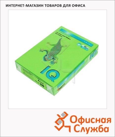 Цветная бумага для принтера Iq Color ярко-зеленая, А4, 80г/м2, MA42
