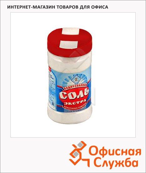 Соль Моссоль Экстра в солонке, 250г, йодированная
