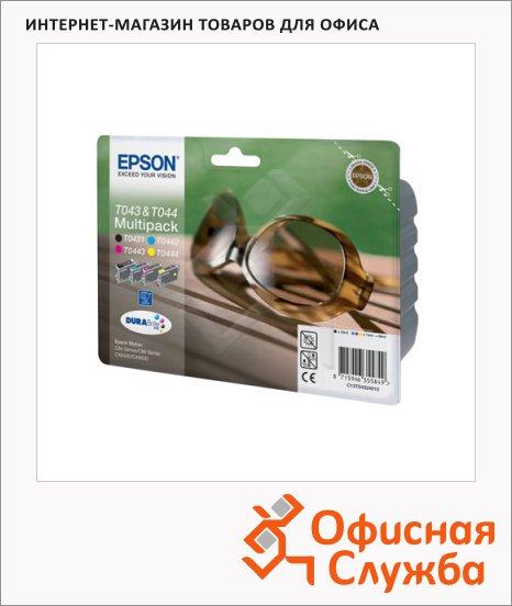 Картридж струйный Epson C13 T04324010, 4 цвета