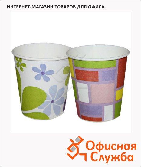 Стакан одноразовый Buffet Bicolor, бумажный, 200мл, 6шт/уп