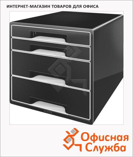 Бокс для бумаг Leitz Black & White 287x270x363мм, 4 ящика