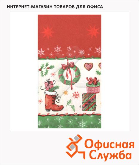 фото: Скатерть нетканая 120х180см рождественский рисунок