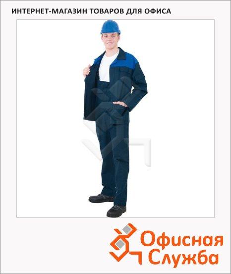 Костюм рабочий мужской Производственник, сине-васильковый, с полукомбинезоном, с СОП