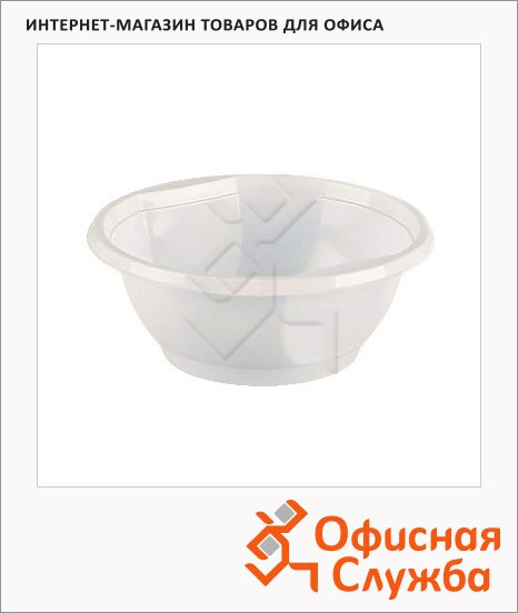 Миска одноразовая белая, 600мл, 24шт/уп