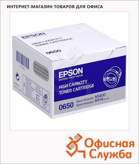 Тонер-картридж Epson C13S050650, черный