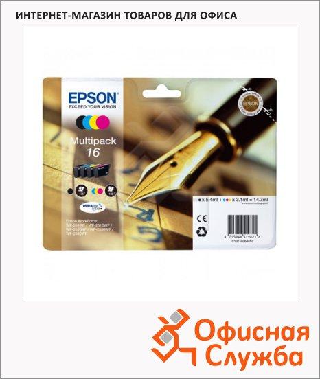 Картридж струйный Epson C13 T1626 4010, 4 цвета, 4шт/уп