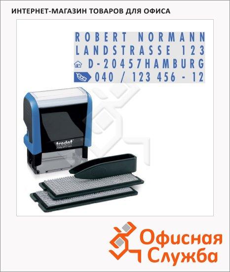 фото: Штамп прямоугольный самонаборный Trodat Printy Typomatic 4 строки 47х18мм, 4912/DBL