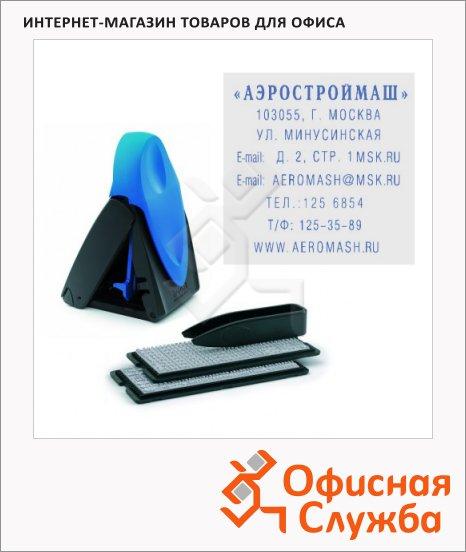 Штамп квадратный самонаборный Trodat Mobile Printy 8 строк, 40х40мм, 9440